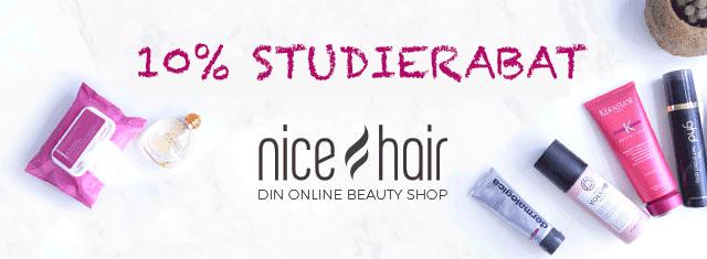 nicehair-studierabat-hår-voks-studerende-mode-style-shampoo