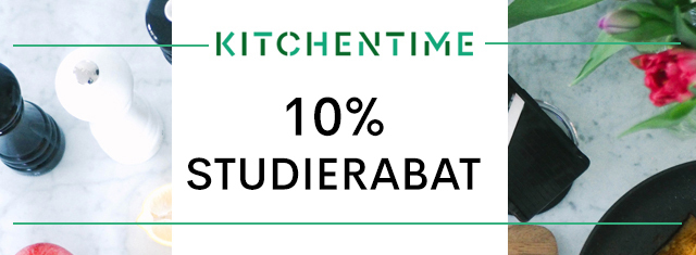 Kitchentime-studierabat-maj-studerende-køkkenudstyr-madlavning-service-gryder-pander-blendere